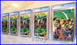 X-Men #1 Lot Set of all 5 Covers Marvel Comics 1991 CGC 9.8 NM/MT WP G0103