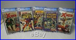 X-men Lot Of 5 (uncanny, 1968) X-men 40 43 47 48 49 1st App Polaris All Cgc